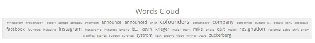 Word Cloud - Insta Cofounders