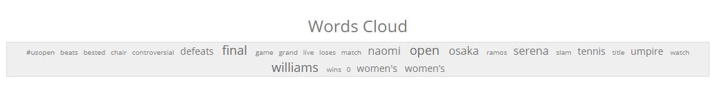 Word Cloud - US Open Final